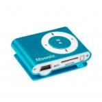Obrázok produktu MSONIC MP3 prehrávač s čítačkou kariet,  slúchadlá,  miniUSB kábel,  modrý