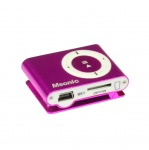Obrázok produktu MSONIC MP3 prehrávač s čítačkou kariet, slúchadlá, miniUSB kábel, ružová