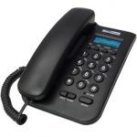 Obrázok produktu MaxCom KXT100 stolný telefón,  displej,  záznam hovorov,  redial,  čierny