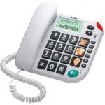 Obrázok produktu MaxCom KXT480BB drôtový telefón,  veľký displej,  veľké tlačidlá,  handsfree,  biely