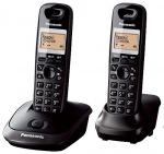 Obrázok produktu Panasonic KX-TG2512FXT telefon bezsnurovy DECT  /  čierny - 2x