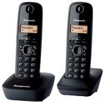 Obrázok produktu Panasonic KX-TG1612FXH telefon bezsnurovy DECT  /  sivy 2x