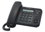 Obrázok produktu Panasonic KX-TS560FXB - kompaktný stolový telefón s LCD a s CLIPom,  čierny