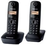 Obrázok produktu Panasonic KX-TG1612FXH - digitálny bezdrôtový telefón,  TwinPack - obsahuje dve slúchadlá,