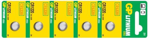 Baterie GP CR1220 - 5ks - 1042122015