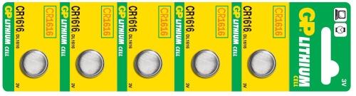 Baterie GP CR1616 - 5ks - 1042161615