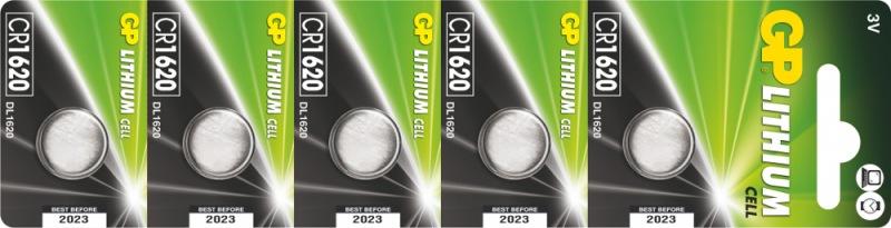 Baterie GP CR1620 - 5ks - 1042162015