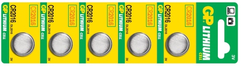 Baterie GP CR2016 - 5ks - 1042201615