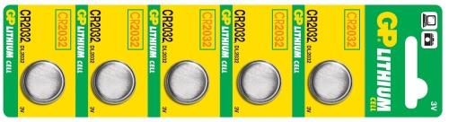 Baterie GP CR2032 - 5ks - 1042203215