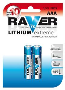 Baterie RAVER 2x AAA LITHIUM - 1321112000