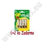 Obrázok produktu GP alkalická AA batéria ,  balenie 6+2 ks ZADARMO