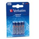 Obrázok produktu Verbatim batérie R03 / AAA, 1,5V, alkalické blister, 4x