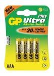 Obrázok produktu GP Ultra Plus LR03 / AAA, 1,5V, alkalické blister, 4x