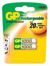 Nabíjecí baterie GP AAA 1000 NiMH 2ks - 1032112080