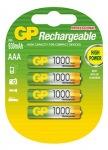 Obrázok produktu Nabíjecí baterie GP AAA 1000 NiMH 4ks