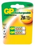 Obrázok produktu Nabíjecí baterie GP AAA 1000 NiMH 2ks