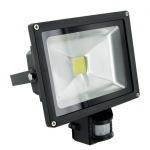 Obrázok produktu WE LED světlomet venkovní 20W, detektor pohybu, bíla